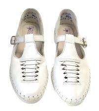 Vintage Softspots Women's Sandal Maryjane White Leater SZ 7.5M Nursing Shoe New