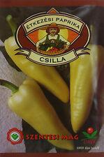 Hot Csilla Hungarian pepper seeds. approx. 1g seeds