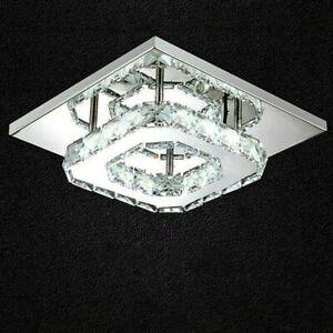 Modern Square 20cm 12W LED Crystal Ceiling Lights Chandeliers Aisle Lights