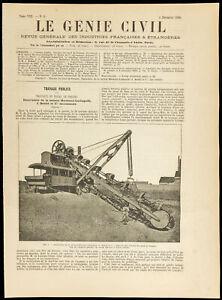 1886 - Works Du Canal Panama - Schaufelbagger Der Haus Hermann-Lachapelle