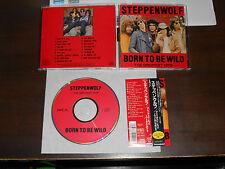 STEPPENWOLF Born To Be Wild Greatest Hits CD Japan 17 tracks MCA MVCM-405 obi