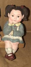 Sarah's Attic Brunette Girl Student Granny's Favorites Figurine Made In Usa
