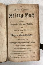 Antique German Singing Book Music Psalms Religion Worship 1808