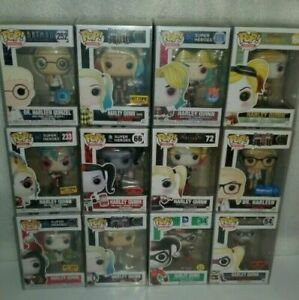 HARLEY QUINN HARLEEN QUINZEL FUNKO POP LOT OF 12 COLLECTION  EXCLUSIVES