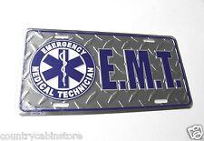 EMT emergency medical technician emblem metal license Plate 12 x 6 inches