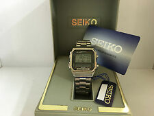Seiko D409-5030 Sports 100 Memory Data Alarm Chronograph Quartz LCD LED Watch M