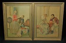 Set of 2 Framed Victorian Prints By British Artist W.E. Webster