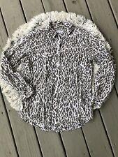 Equipment Femme Silk Animal print Women Sz Medium top blouse shirt Button Front