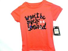 "Under Armour Girls Pink Wont Be Over Looked Toddler T shirt ""X"""