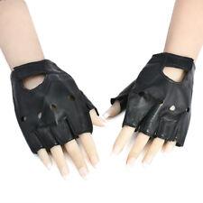 Men's Leather Gloves Half Finger Fingerless Biker Cycling Driving Sports Gloves