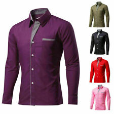 Tops Shirt Men's Long Sleeve Formal Business Dress Luxury Slim Casual Fit Shirts