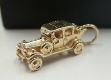 Vintage - 9ct Solid Gold Car Charm- Articulated - 5 grams