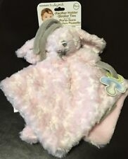 NEW Blankets & Beyond Pink Puppy Dog Bunny Security Stroller Lovey Rosette Twirl