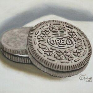 Still Life Artwork #318 Pastel Painting Oreo Cookies
