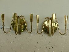 Seductive Mid Century Pair Of Tommi Parzinger Brass Wall Sconces # 2