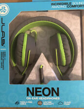 JLAB NEON ON-EAR HEADPHONES WITH UNIVERSAL MIC,TRACK CONTROL Neon Green