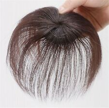 Natural 100% Human Hair Loss Hair Top Cover Clip on REAL Wig Piece extension