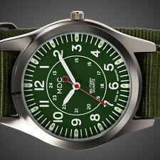 Infantry Quartz Mens Sport Wrist Watch Lume Army Military Green Nylon Strap