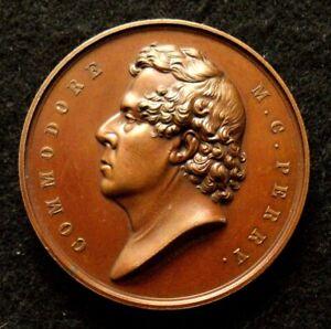 1854 Commodore Perry Japan Medal Rare Original & Choice