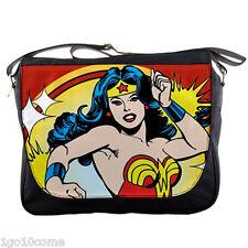 Wonder Woman Classic Comic Messenger Bag School Sling Travel Laptop Bags