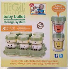 Magic Bullet Baby Bullet Storage System 8 Piece Set Bonus To Go Tube