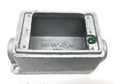 "CFI FDC-75L 3/4"" FD Device Box Deep Feed Through Cast Iron 5-1/4x3x2-7/8"" FD/FS"