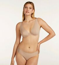Third Love Classic Unlined Plunge Bra Nude 44E