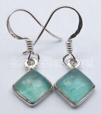 """925 Sterling Silver Apatite 3.8 tcw Dangle Earrings 1.1"""" Gemstone Jewelry"""
