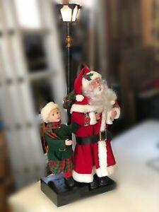 Grand Père Noël animé lumière décoration hiver fêtes illuminé Holiday Creations