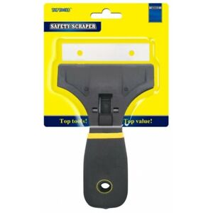 """Safety Scraper 3"""" For Window Cleaning - Removes Glue/Dirt/Residue Easy Grip"""
