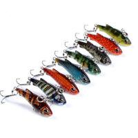 Fish Popper Triangle Hooks Minnow Bass Tackle Fishing Lures Hard Plastic Bait