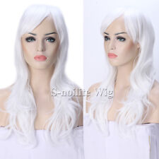 POP Cosplay Long Ombre Curly Wavy Wig Women Synthetic Dress Pink Red Hair Wig 03