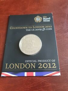 2009 Countdown To London 2012 Olympics, £5 Sealed Royal Mint Carded Coin