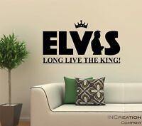 Elvis Presley Portrait Black and White Vinyl Wall Decal Sticker logo emblem art