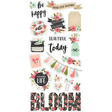 Simple Stories BLOOM Collection 6x12 chipboard stickers #10055