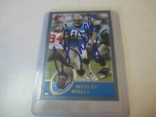 2003 TOPPS WESLEY WALLS CAROLINA PANTHERS SIGNED AUTOGRAPHED CARD COA