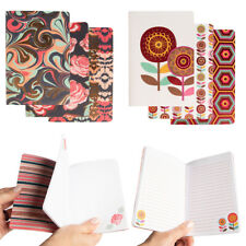 """Set of 3 Pocket Journals 4.25x6"""" Notebook Softcover Writing Travel Lined Paper"""