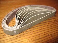 """10pc 1/2 x 12"""" sanding belts for Worksharp knife sharpener. 3M Trizact 180 grit"""