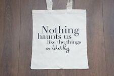 Premium Cotton Canvas Shopping Shoulder Tote Shopper Bags Natural Inspirational