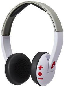 Skullcandy Uproar White Grey Red Wireless Bluetooth On Ear Headphone with Mic
