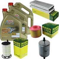 Inspection Kit Filter Castrol 10l Oil 5w30 for Audi A6 Avant 4f5 C6 S6