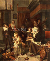 STEEN JAN THE FEAST OF ST NICHOLAS ARTIST PAINTING OIL CANVAS REPRO ART DECO