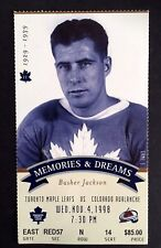 1998 Final Season at Maple Leaf Gardens Busher Jackson Hockey Ticket Stub