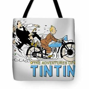 The Adventure of Tin Tin Cartoon Graphic Tote Bag or Weekend Bag