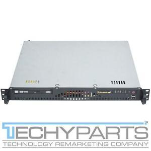 "Supermicro CSE-512 X10SLM-F Core i3-4150 3.5GHZ 4GB Rackmount 14"" Mini 1U Server"
