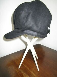 Baker boy Florence & Fred black hat decorative detail  New Peaky Blinders