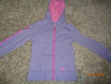 Girl's hooded shirt by Under Armour Size Large youth purple