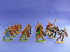 Plats d'étain - flat tin - Zinnfiguren - 20 soldats gaulois Alésia / Gergovie