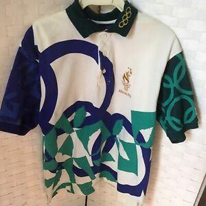 Vintage 1996 Atlanta Olympic Games Hanes Volunteer Staff Polo Shirt Adult Small