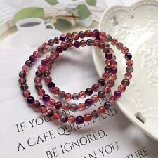 5.5mm Rare Natural Red Rabbit hair Quartz Crystal Round Beads Bracelet AAAA